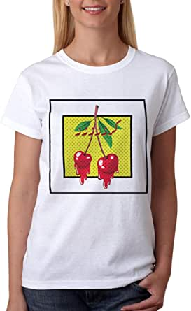 kharbashat Karaz T-Shirt For Women, Size L, White
