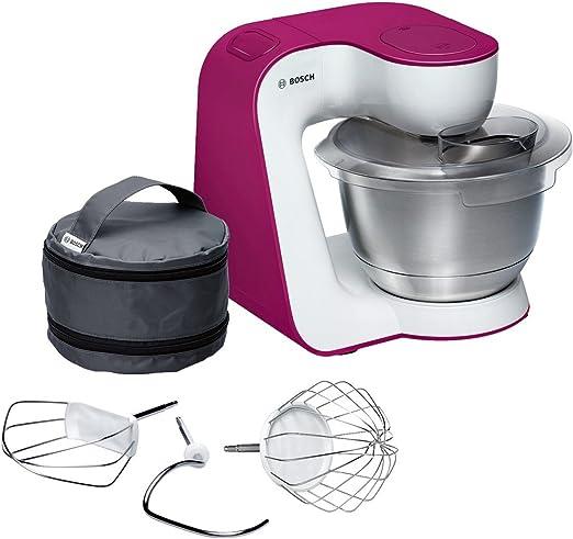 Bosch MUM5 StartLine - Robot de cocina (3,9 L, Rosa, Blanco, Acero ...