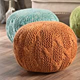 Christopher Knight Home 299705 Deon Ckh Indoor Pouf, Orange
