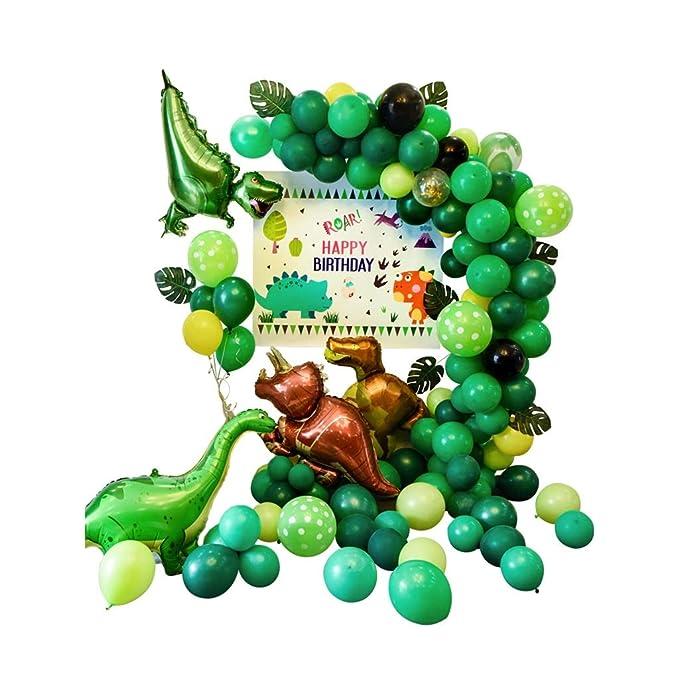 Chang-dq Juego de Globos Verdes, Tema de Dinosaurio Fiesta ...