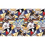 KITTENS COTTON FABRIC-CATS COTTON FABRIC-KITTENS QUILTING FABRIC SOLD BY THE YARD