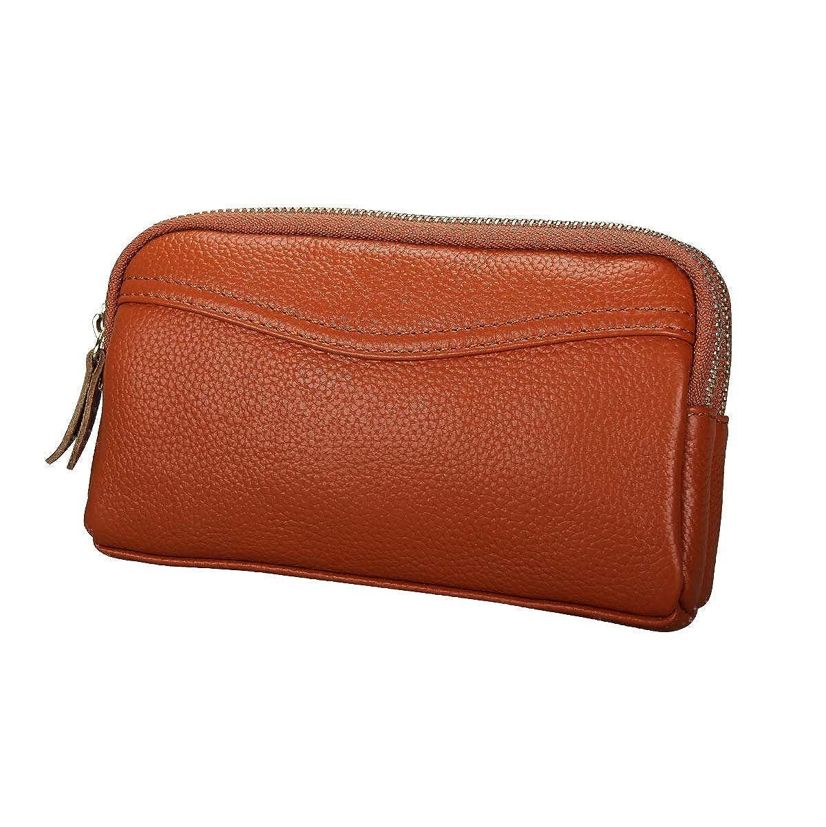 c19692f390a8 LJYH black women's genuine leather holder handbag double zipper coin ...