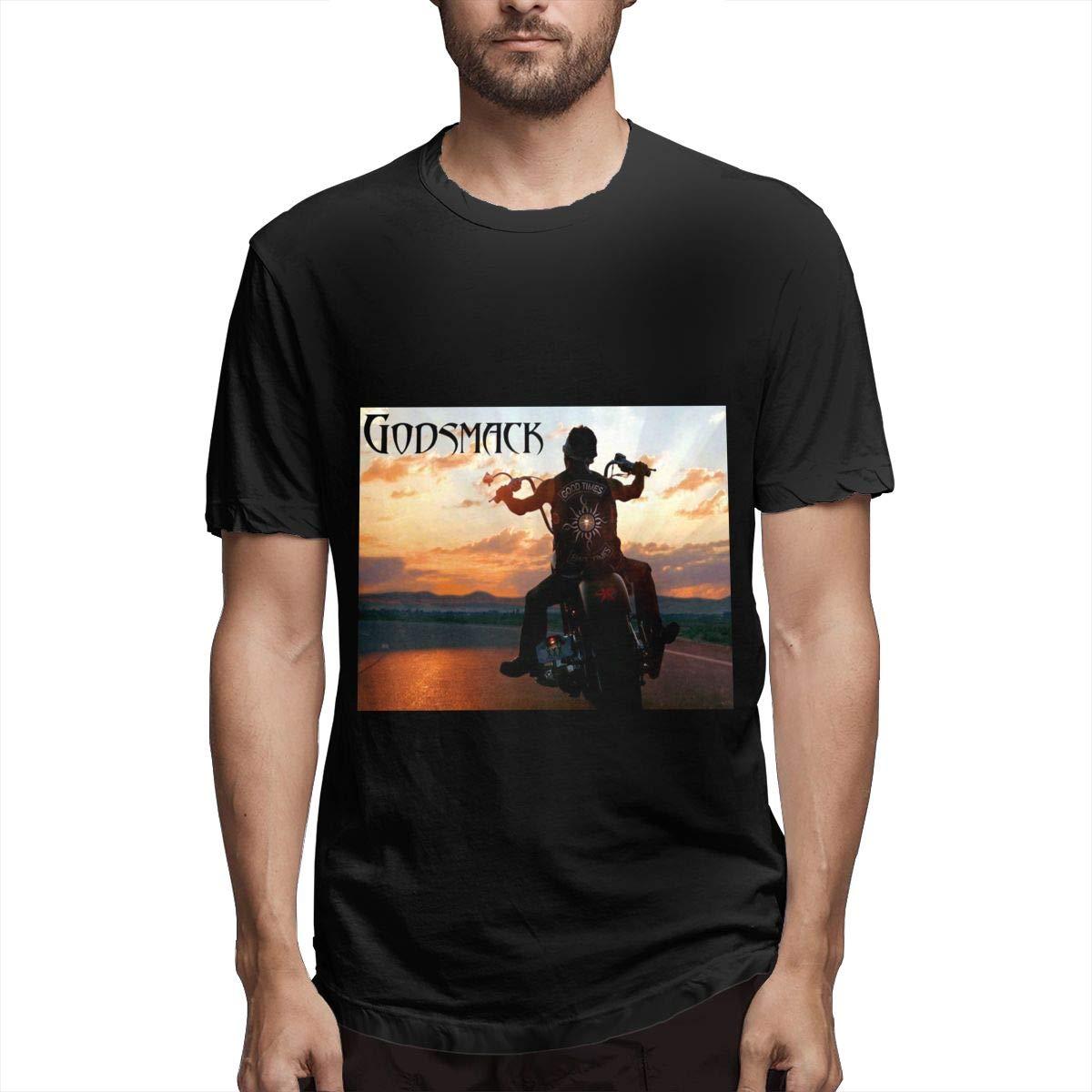 Lihehen Godsmack Simple Casual Round Neck Tees Shirts
