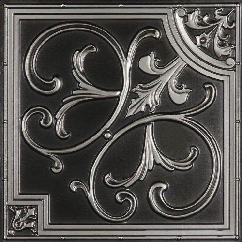 udecor # 204Ceiling Tile (2'x2), Gris (Antique Silver), 1