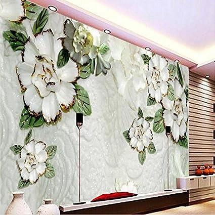 sproud groot kleuren carving aangepaste behang slaapkamer woonkamer tv achtergrond magnolia muurschilderingen glas 250cmx175cm