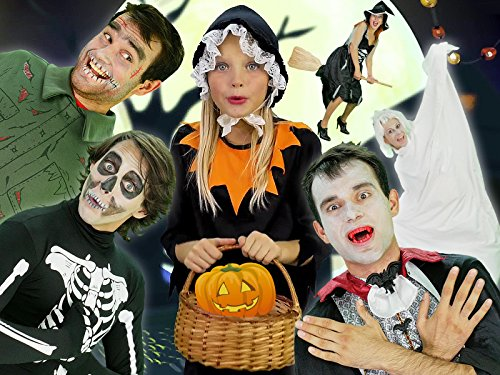 Halloween Pumpkin - Baby Song Finger Family with Zombie, Ghost and Vampire]()
