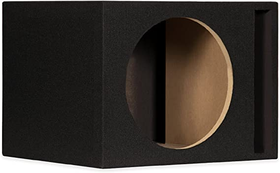 New Single Car Black Subwoofer Box Ported Automotive Enclosure for 12 Woofer 12SP