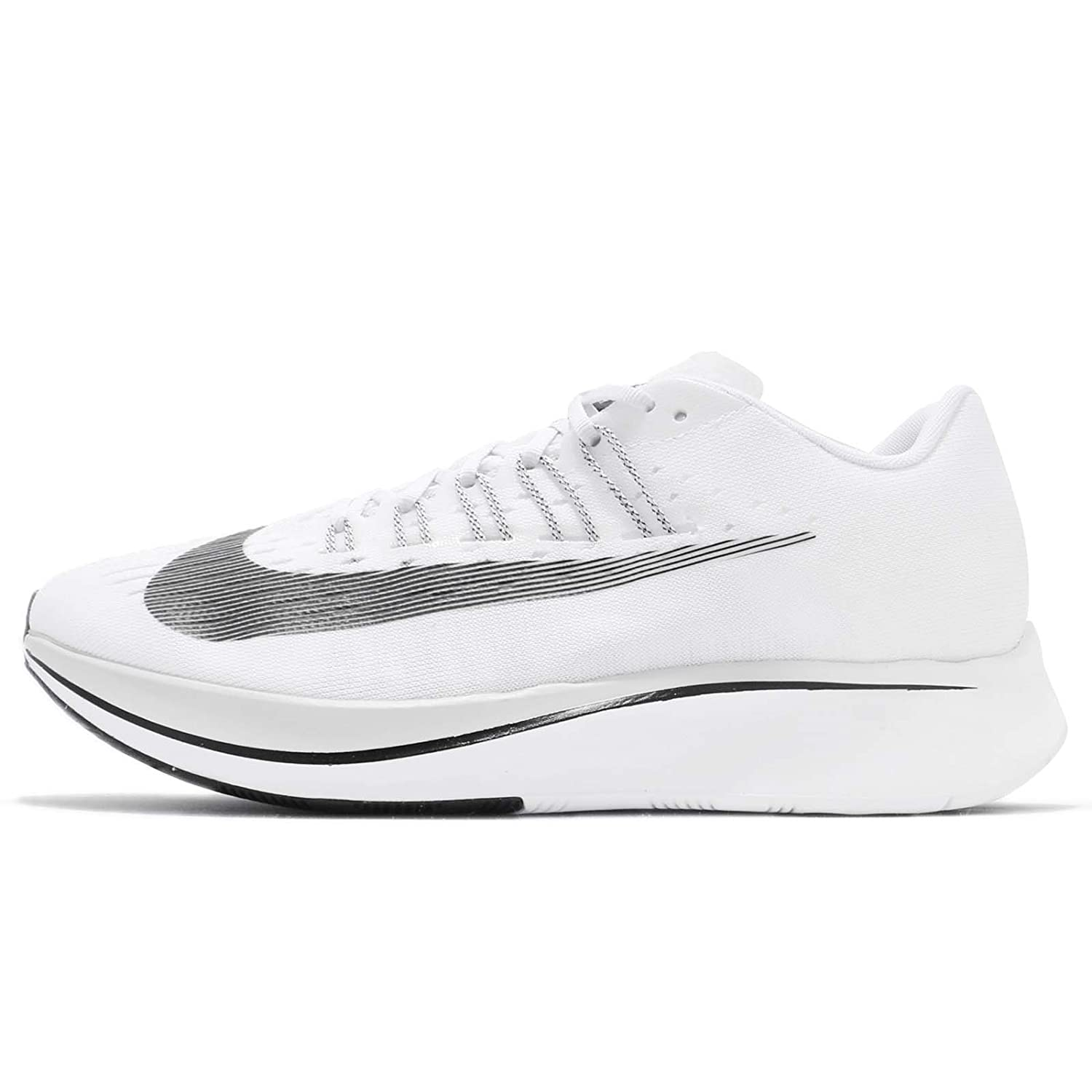 White Black Pure Platinum Nike Mens Zoom Fly SP Lightweight Trainer Running shoes