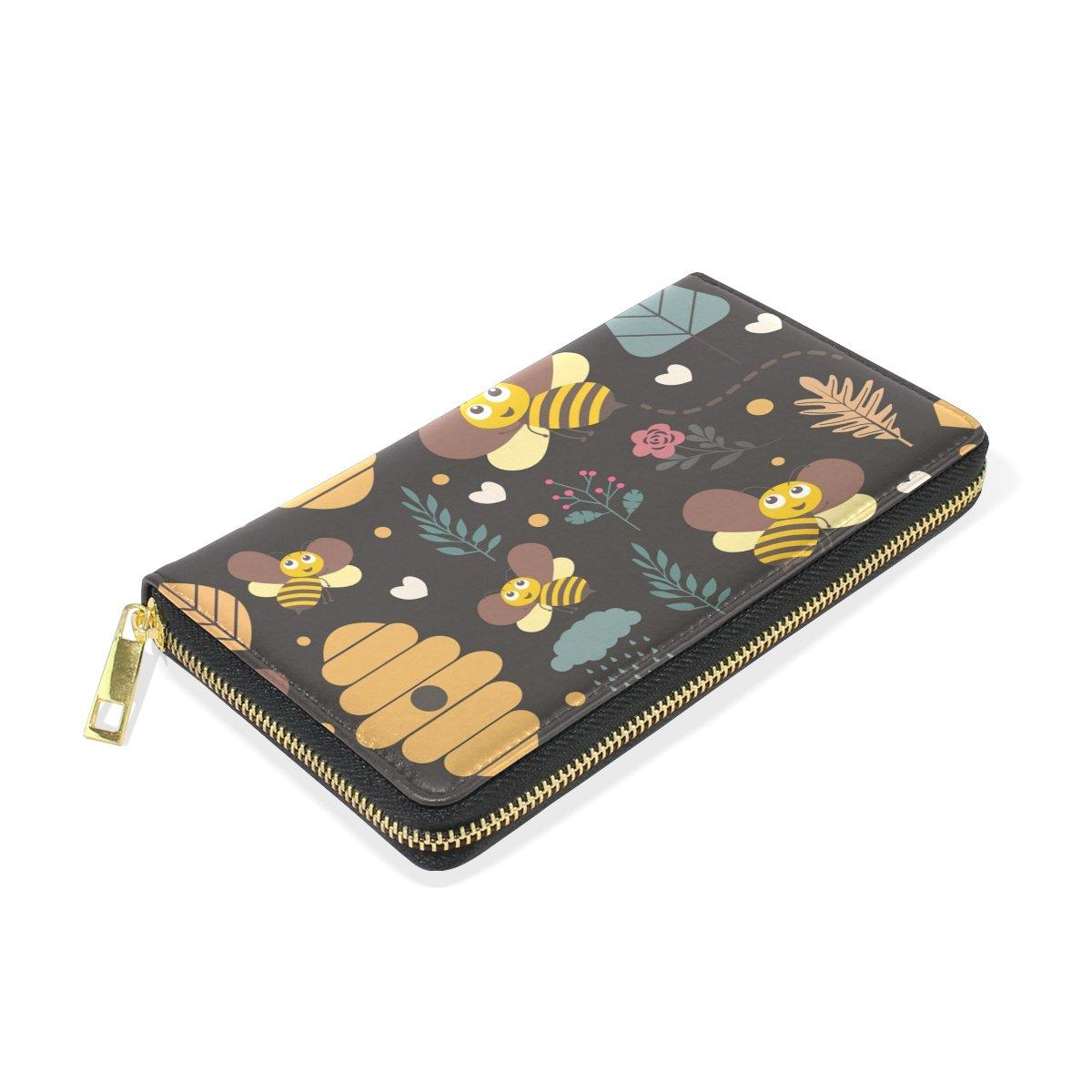 Bolso flor de piel abejas con cierre para mujer con Bolso diseño de ...
