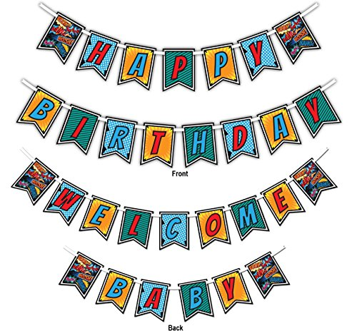 Superhero Comic Multi-Use Happy Birthday or Welcome Baby