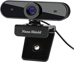 Webcam 1080P with Noise Cancellling Microphones, Ultra High-Resolution Web Camera Wide Screen Video Calling Recording Game Streaming, Skype Web Cam for Mac OS X Win 10 8 7 Vista XP