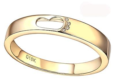 KnSam Joyas-Amor por Siempre&Anillo Compromiso Pareja Oro ...
