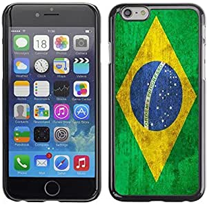 Graphic4You Vintage Brazilian Flag of Brazil Design Hard Case Cover for Apple iPhone