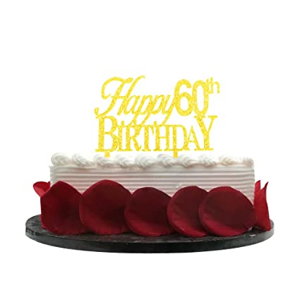 Image Unavailable Not Available For Color Minhero Happy 60th Birthday Cake Topper