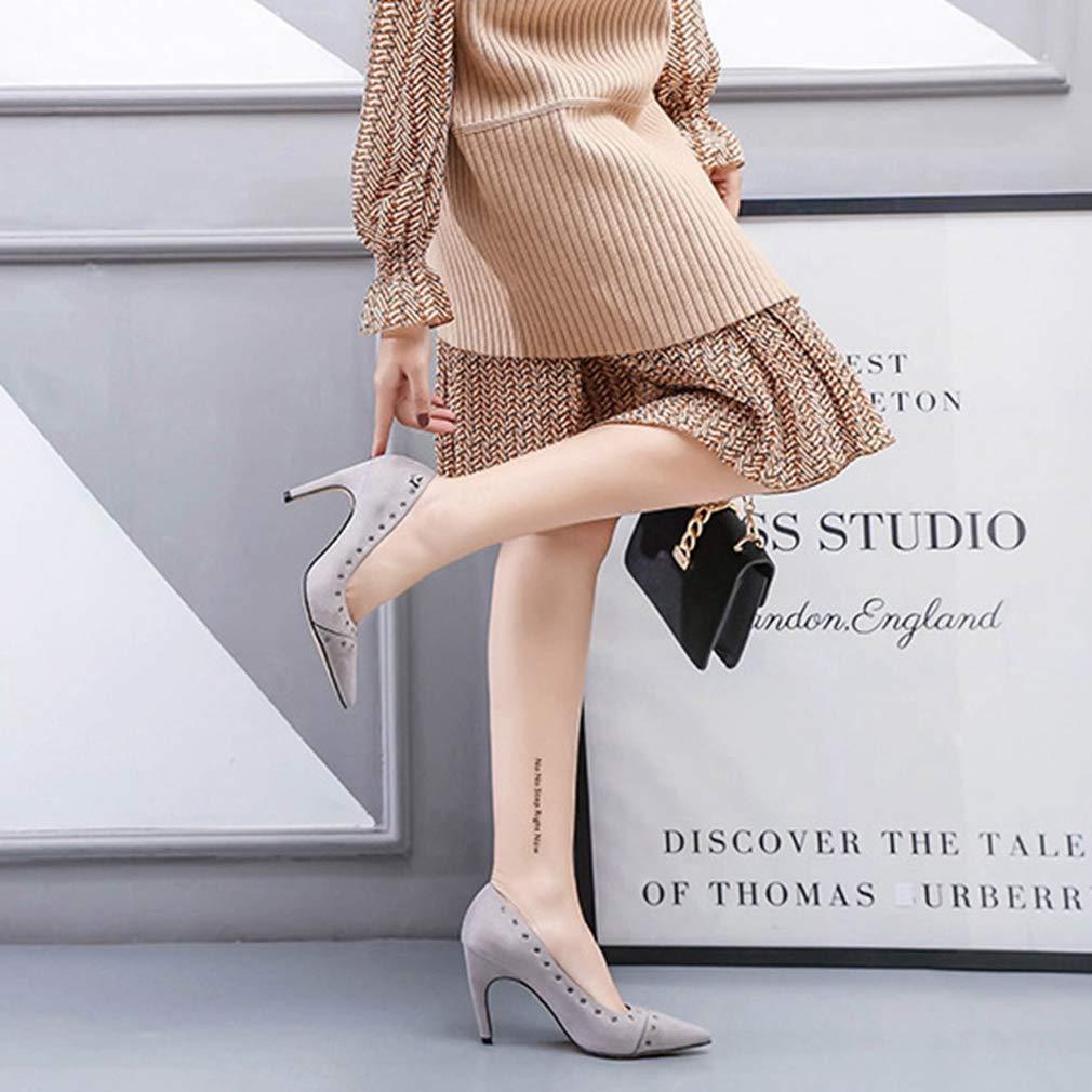 1adeeb996488 ... CYBLING Womens Pointy Toe High Heels Slip On Stilettos Studded Studded  Studded Wedding Party Evening Dress ...