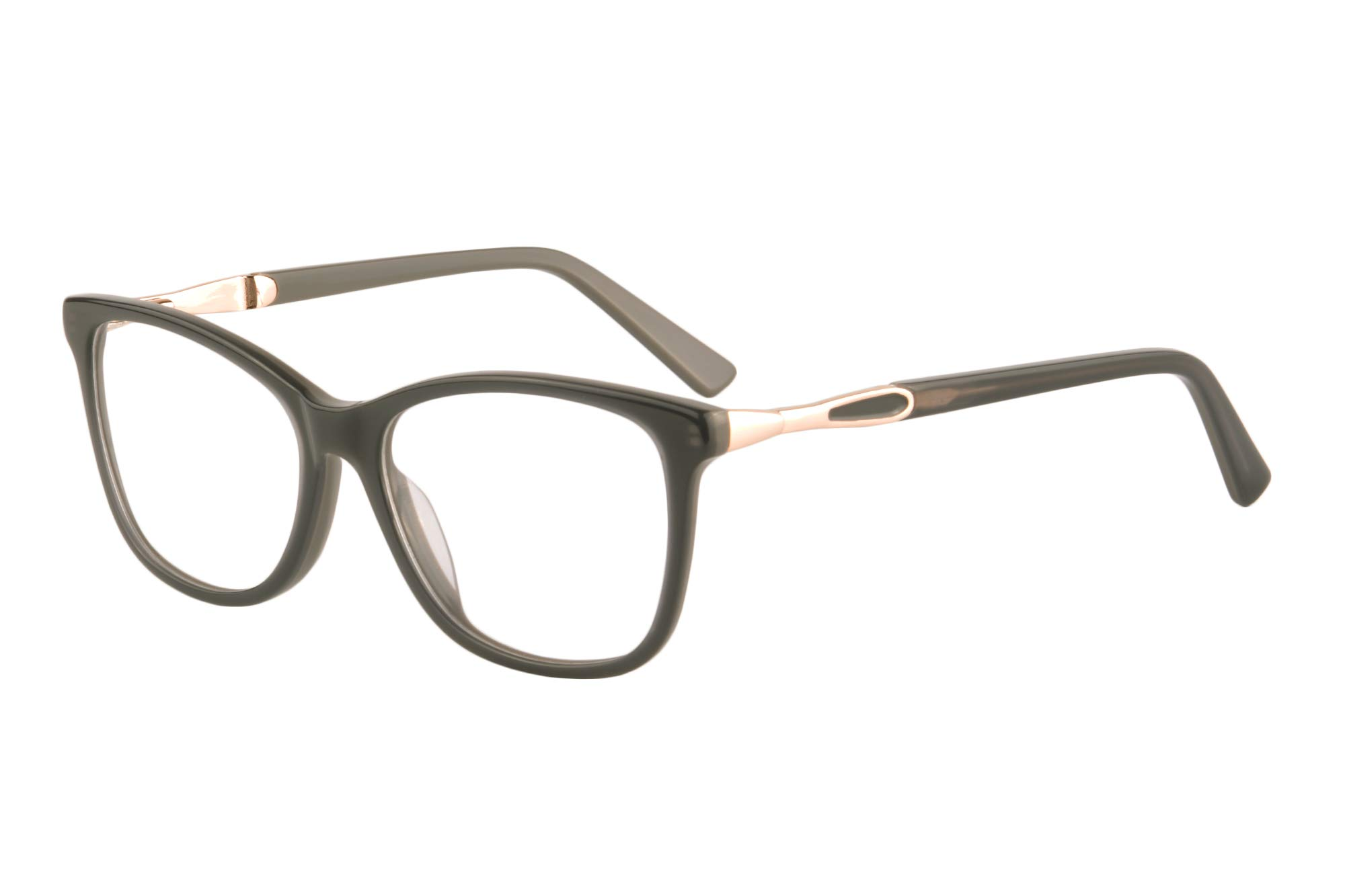 SHINU Acetate Cateye Frame Progressive Multifocus Anti Blue Light No Headach Reading Glasses-RD142(grey, anti-blue up 0 down 1.75)