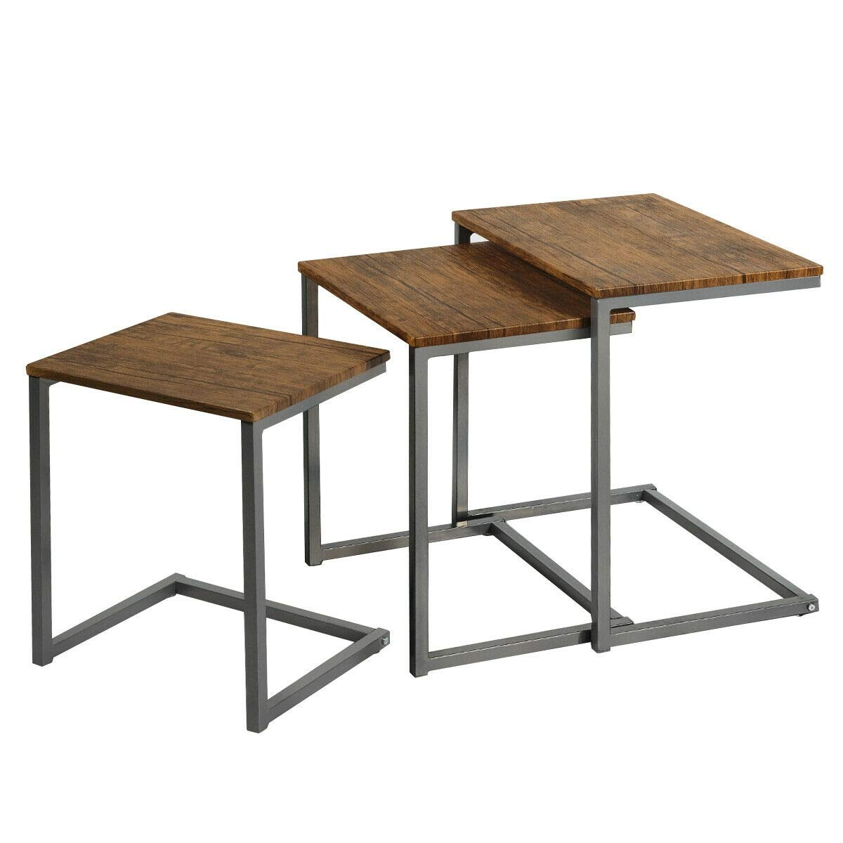 JF World 3 Pices Multifunctional Coffee End Table Set by JF World