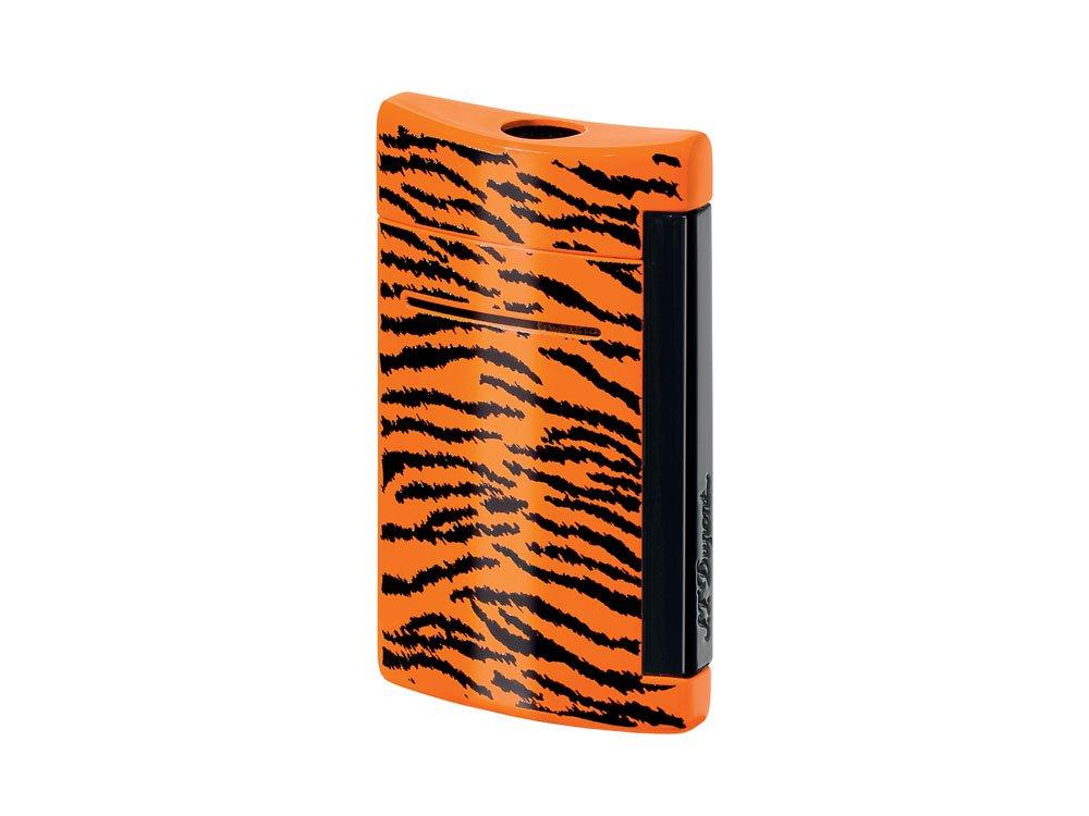 S.T.Dupont (エステーデュポン) ライター 010073 MINIJET ミニジェット タイガー柄 オレンジ×ブラック 電子ガス ターボライター [正規品] B00JKH9O60
