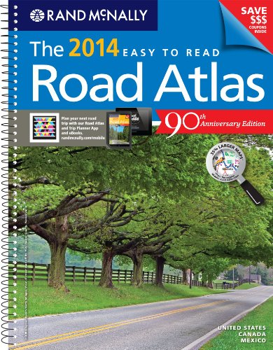 Rand McNally 2014 Midsize Deluxe Easy to Read Road Atlas (Rand McNally Easy to Read!)