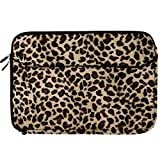 Brown Leopard Fur Covered Durable Neoprene Protective Laptop Sleeve Cover for Sony VAIO S Series 15.5 inch Laptop Models SVS15113FXS / SVS151190X / SVS1511AGXB / SVS1511BFXB + SumacLife TM Wisdom Courage Wristband