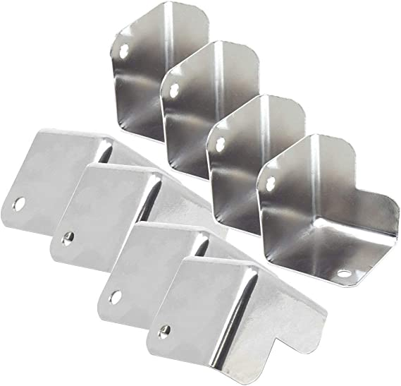 8 Pieces Metal Nickel Finish Cabinet Corner For DJ and Speaker Boxes 1.5