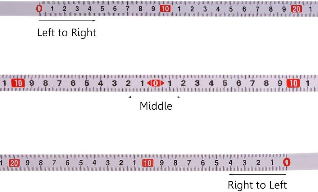 Cuigu Mitre Track Ruban /à Mesurer R/ègle en Acier M/étrique Auto-Adh/ésive Mitre Scie Scale pour T-Track Routeur Table Scie Bande Piste Stop Scie /À Bois 1//2// 3 de Droite /à Gauche, 2M 5M
