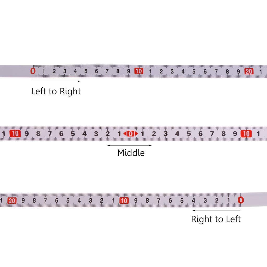 FXCO Gehrungss/äge Ma/ßband selbstklebende metrische Skala Ma/ßband selbstklebendes metrisches Stahllineal Gehrungsstreifen Anschlagband 1m von rechts nach links