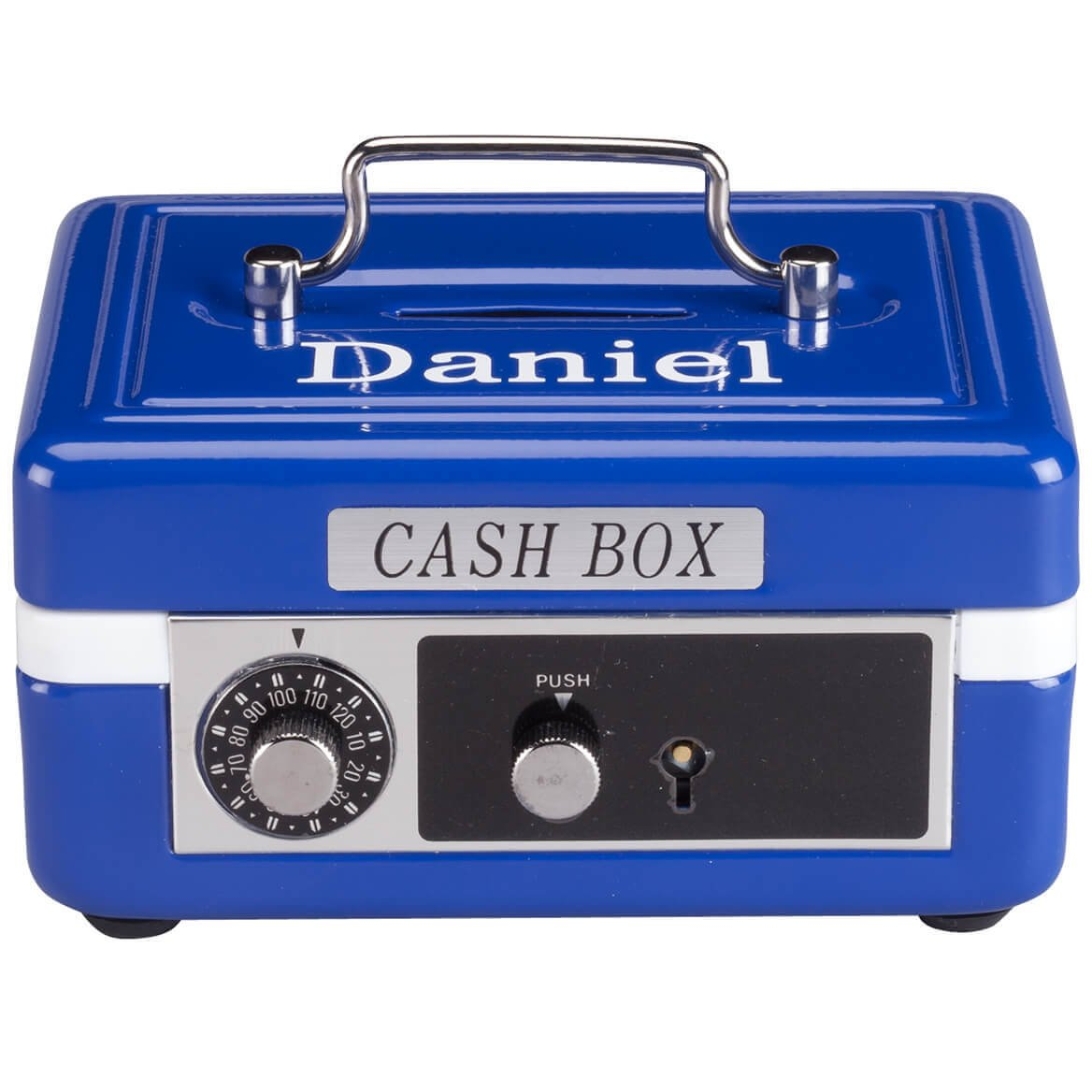 Personalized Children's Cash Box - Blue