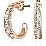 Mestige Rose Gold Matilda Earrings with Swarovski Crystals
