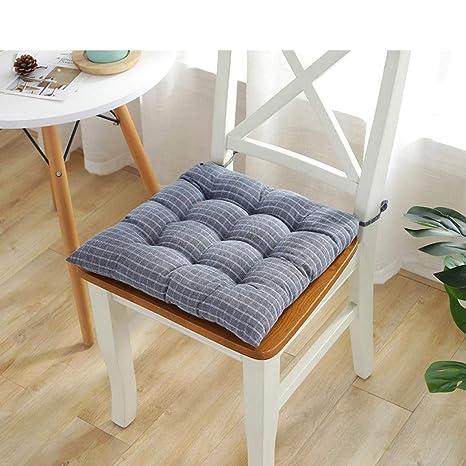Amazon.com: Cojín de algodón suave para silla de color gris ...
