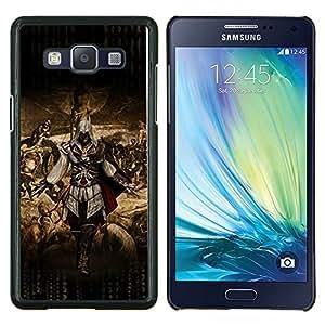 Ataque Asesinos- Metal de aluminio y de plástico duro Caja del teléfono - Negro - Samsung Galaxy A5 / SM-A500