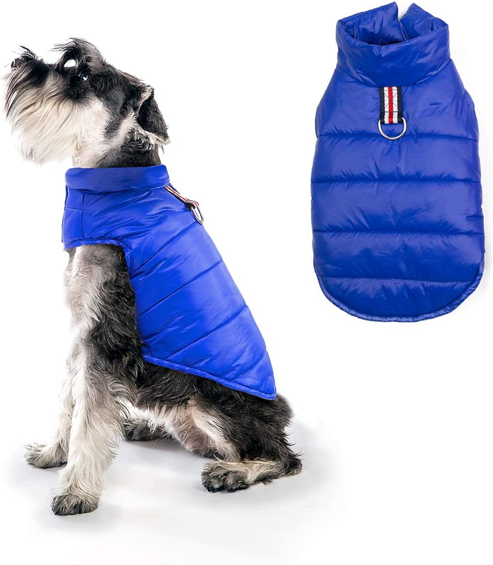 Paso f/ácil en el Cierre Forro Polar con tama/ño de Pecho Ajustable Chaleco Reversible para Perro a Prueba de Viento Abrigo de Invierno para Perro a Prueba de Agua Mile High Life
