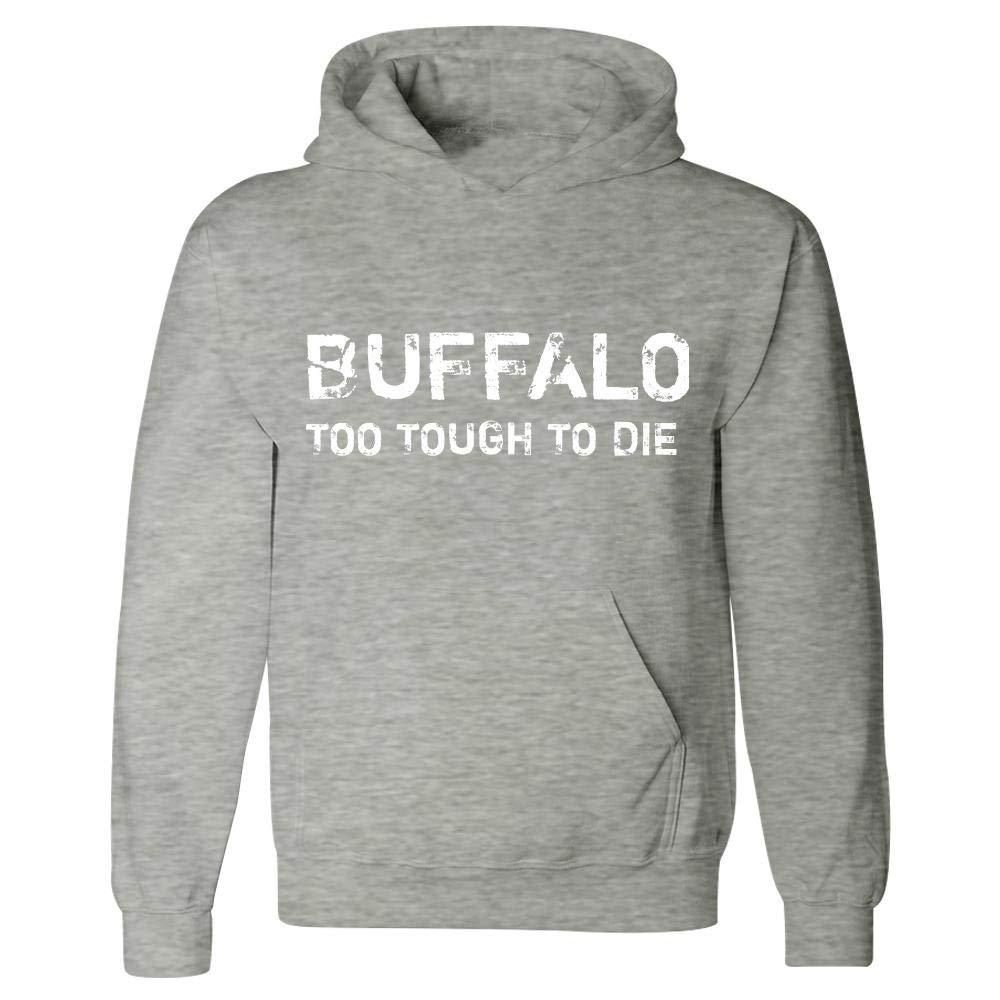 Hoodie Ash Grey Buffalo Too Tough to Die