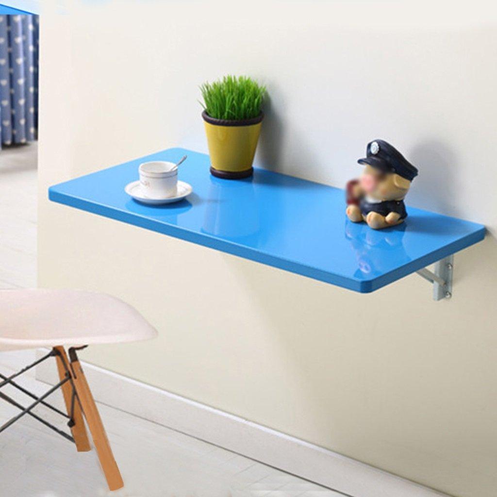 シンプルな折り畳み側のテーブルの壁掛けダイニングテーブル壁掛けコンピュータデスクラップトップデスクカラーサイズオプション ( 色 : 青 , サイズ さいず : 80cm*40cm ) B07BRK425X 80cm*40cm|青 青 80cm*40cm