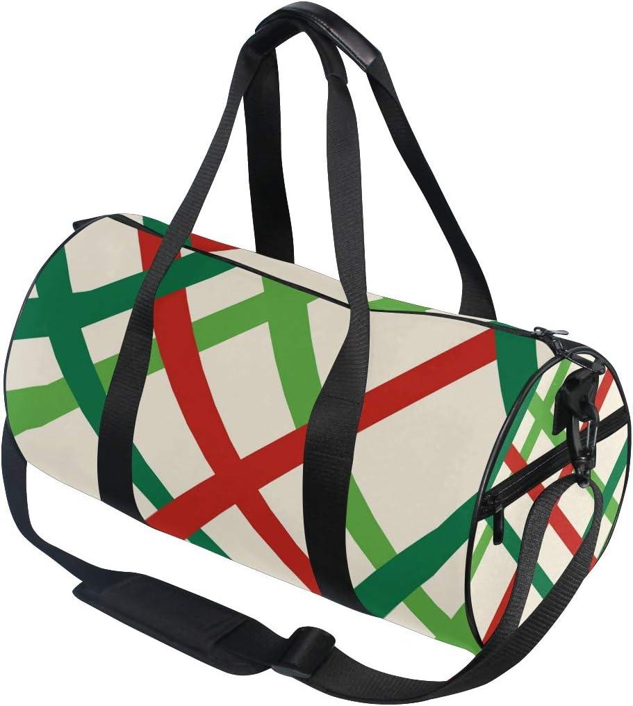 MALPLENA Christmas Vibe Ribbons Drum gym duffel bag women Travel Bag