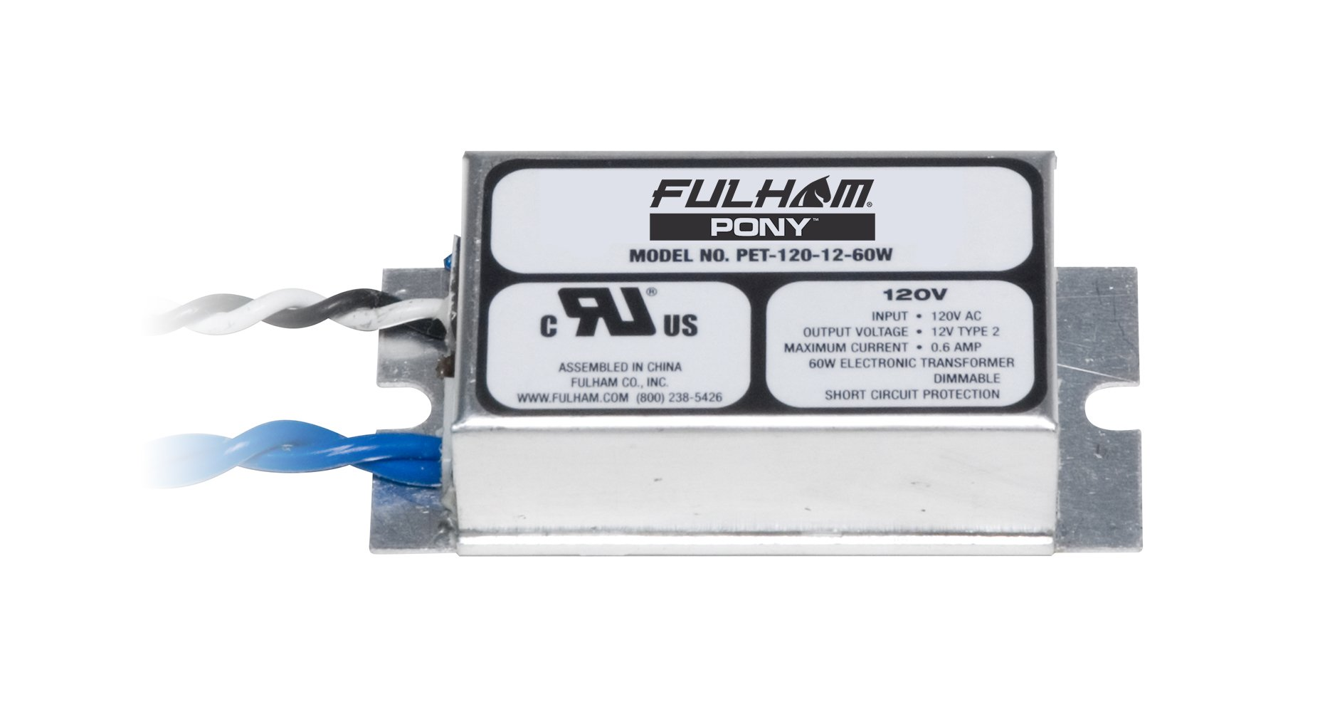 Fulham PET-120-12-60 Low Voltage Transformer