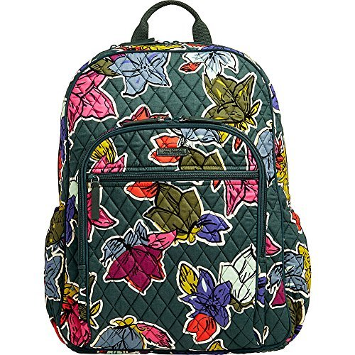 Vera Bradley Women's Campus Tech Backpack Falling Flowers Backpack