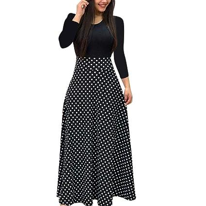 ed29c31868 Clearance!Women Dress,Fashion Women Long Sleeve Floral Boho Print Long Maxi  Dress Ladies