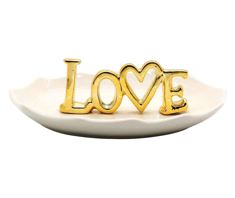 WANYA Ceramic Ring Jewelry Holder LOVE
