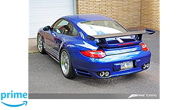Amazon.com: AWE Tuning 3010-42012 Porsche 997.2TT Performance Exhaust System (Polished Silver Quad Tips): Automotive
