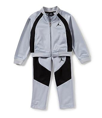 1ddec519dfa Nike Jordan Jumpman Little Boys' Tracksuit Set, Jacket and Pants Outfit -  Grey -