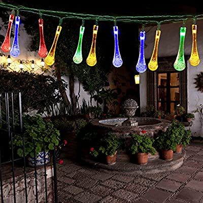 easyDecor Icicle Solar String Lights