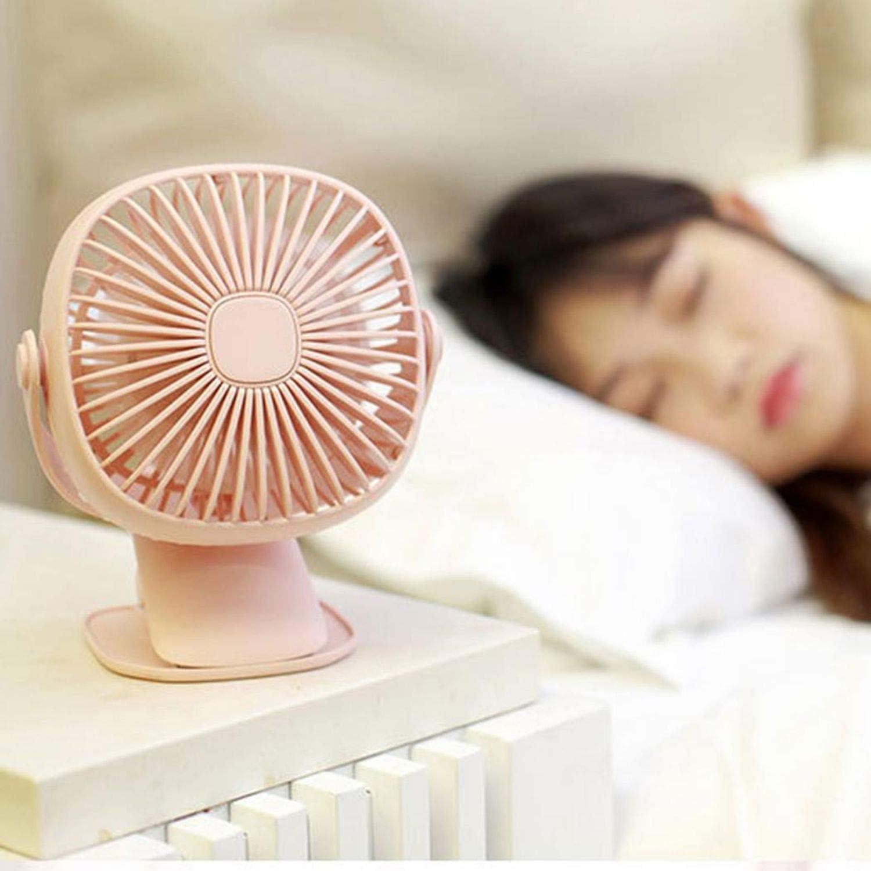 Portable USB Fan Miniclip Desktop Fan Night Light Silent 3 Speed Home Bedside Portable Desktop Office Fan,Green