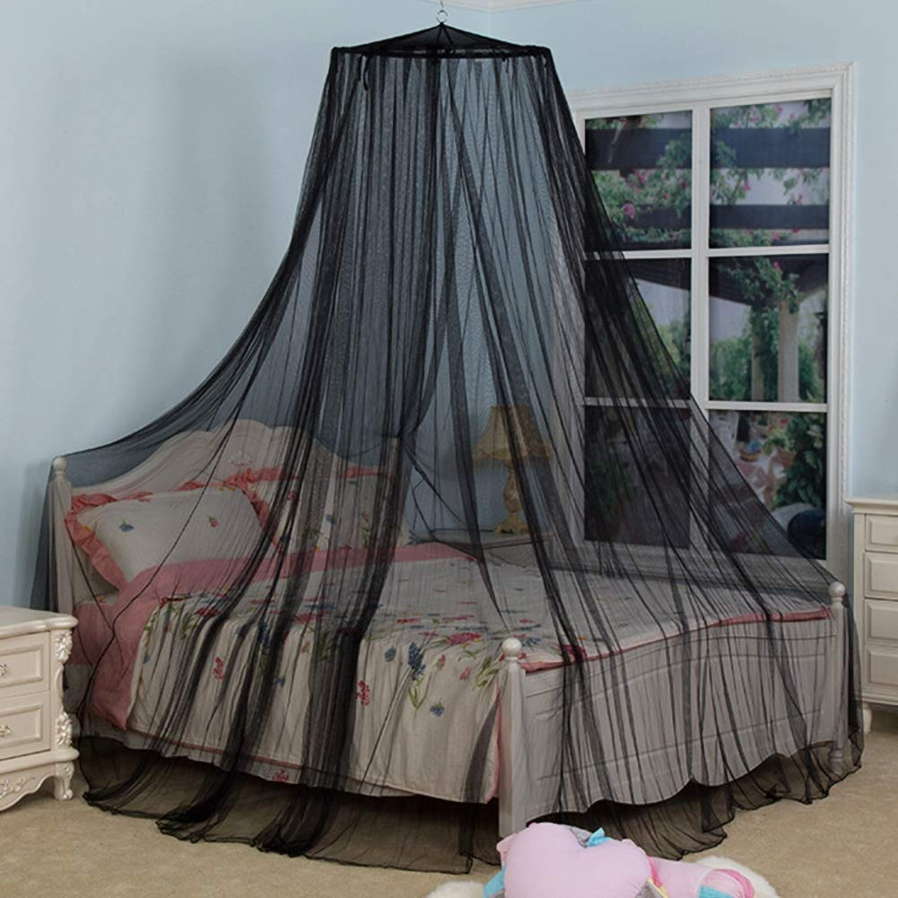 Lace Mosquito Nets, Large Mosquito Net Bed Canopy Maximum Insect Net Protection No Skin Irritation Natural Repellent (Black,125025065cm) by dehong (Image #1)