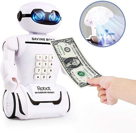 Hucha electrónica Caja Fuerte de Ahorro Robot Caja de Dinero ...