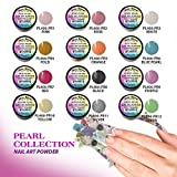 12 Colors Mia Secret Acrylic Pearl Collection Professional Acrylic Nail System Powder 0.25oz/ea