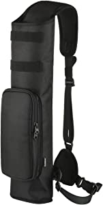 Bluecell World Archery Compact Multi-Function Back Quiver Arrow Holder, Adjustable Quivers Hanged Target Shooting Quiver for Arrows, Bow Hunting and Target Practicing