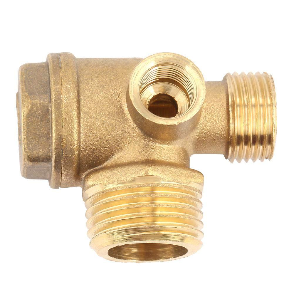 Hazmemejor Clapet Anti-Retour de compresseur dair Outil de connecteur de Tube de Tuyau de clapet Anti-Retour en Laiton /à 3 orifices en Laiton de compresseur