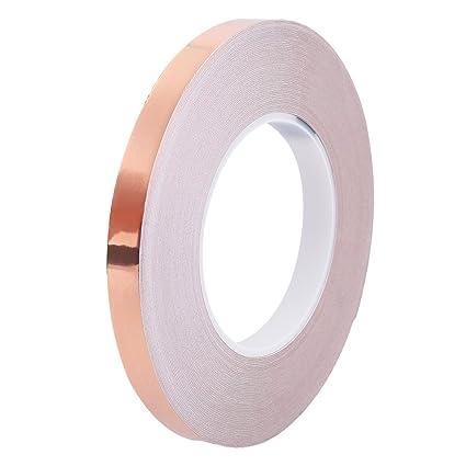 1,2 cmx50 m cinta de cobre cobre Chapa por un lado electrocirugía cinta adhesiva