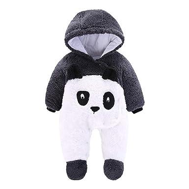 Pelele Bebe Invierno Unisex Recién Nacido Niña Niño Bodies Disfraces Animales Panda Pato Pinguino Pollito Monos con Capucha Caliente Abrigo: Amazon.es: Ropa ...